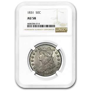 1831 Bust Half Dollar AU-58 NGC