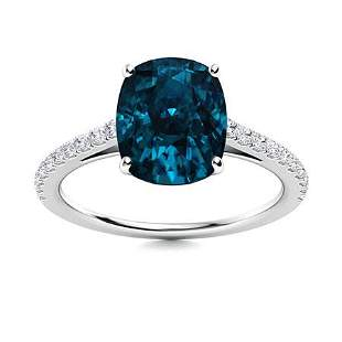 Natural 3.85 CTW Topaz & Diamond Engagement Ring 14K