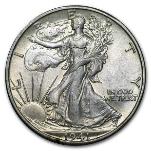 1940-1947 Walking Liberty Half Dollar AU (Random)