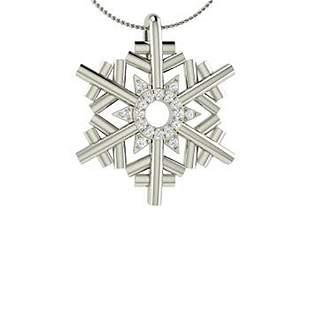 0.11 ctw Diamond Necklace 14K White Gold
