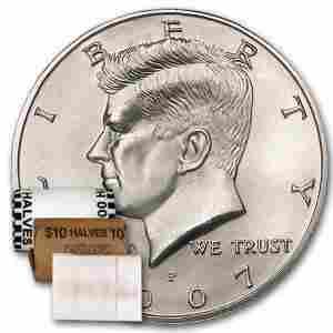 2007-P Kennedy Half Dollar 20-Coin Roll BU