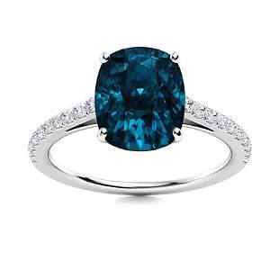Natural 1.59 CTW Topaz & Diamond Engagement Ring 18K