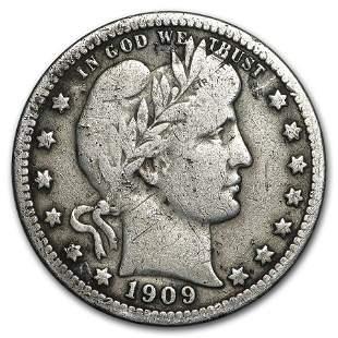 1909-O Barber Quarter Fine