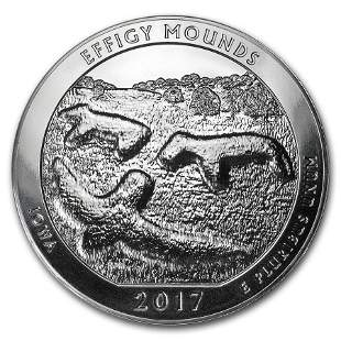2017 5 oz Silver ATB Effigy Mounds National Monument,