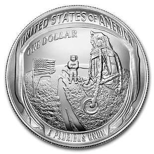 2019-P Apollo 11 50th Anniversary $1 Silver BU (Box &