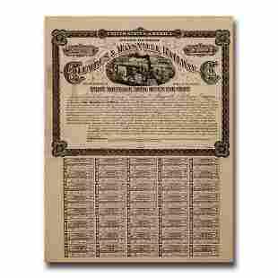 $100 Bond (1870's) - Columbus & Maysville Railway