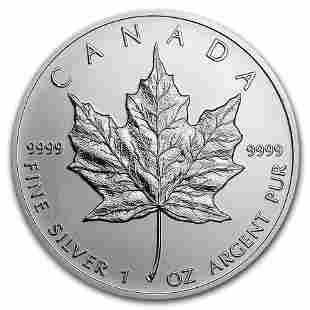 1 oz Canadian Silver Maple Leaf Coin BU (Random Year)