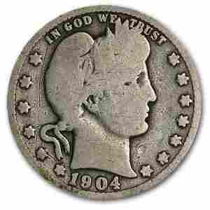 1904-O Barber Quarter Good