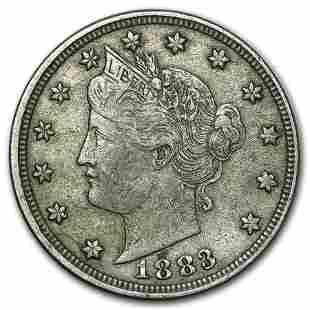 1883 Liberty Head V Nickel w/Cents VF