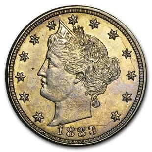 1883 Liberty Head V Nickel No Cents AU