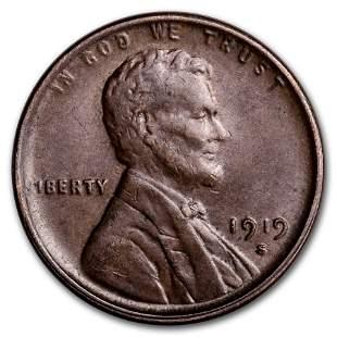 1919-S Lincoln Cent AU