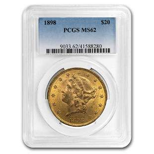 1898 $20 Liberty Gold Double Eagle MS-62 PCGS