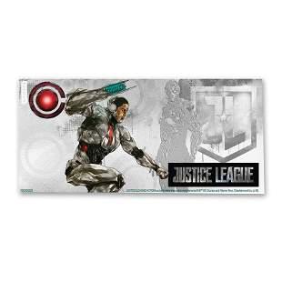 2018 Niue 5 gram Silver $1 Note Justice League Cyborg
