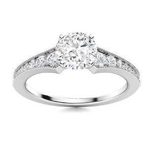 Natural 1.65 CTW Topaz & Diamond Engagement Ring 14K