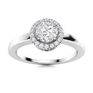 Natural 0.53 CTW Topaz & Diamond Engagement Ring 18K
