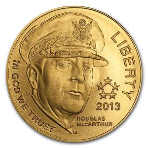 2013-P Gold $5 Commem Five Star General BU (w/Box &