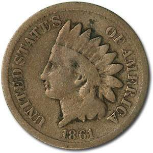 1861 Indian Head Cent Good