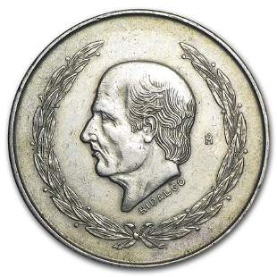 Mexico Silver 5 Pesos Hidalgo (1951-1954) XF-AU