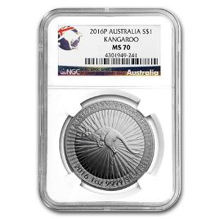 2016 Australia 1 oz Silver Kangaroo MS-70 NGC
