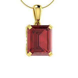 10.31 ctw Garnet Necklace 14K Yellow Gold