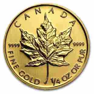 2013 Canada 1/4 oz Gold Maple Leaf BU