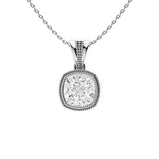 0.77 ctw Diamond Necklace 14K White Gold