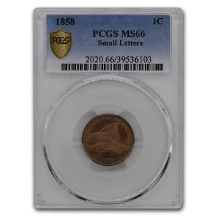 1858 Flying Eagle Cent MS-66 PCGS (Small Letters)