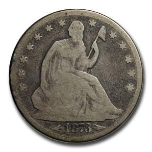 1873 Liberty Seated Half Dollar w/Arrows VG