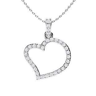 0.35 ctw Diamond Necklace 14K White Gold