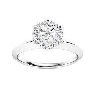 Natural 1.71 CTW Topaz Solitaire Ring 14K White Gold