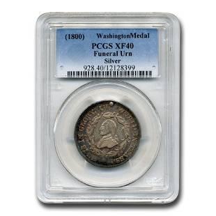 1800 Washington Funeral Urn Medal XF-40 PCGS (Silver)