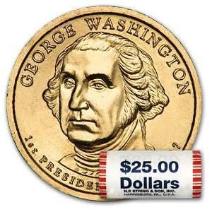 2007-P George Washington 25-Coin Presidential Dollar