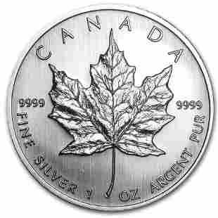 2008 Canada 1 oz Silver Maple Leaf BU