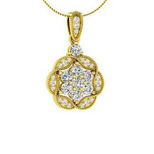 0.55 ctw Diamond Necklace 14K Yellow Gold