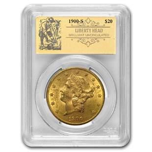 1900-S $20 Liberty Gold Double Eagle BU PCGS