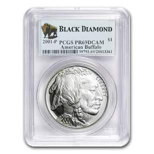 2001-P Buffalo $1 Silver Commem PR-69 PCGS (Black