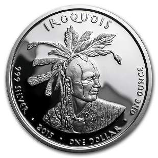 2015 1 oz Silver Proof State Dollars Pennsylvania