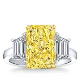 Natural 6 CT Diamond Engagement Ring 18K White Gold