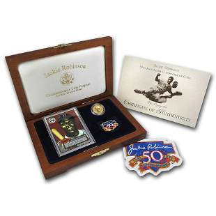 1997 Gold $5 Commem Jackie Robinson Pf Legacy Set