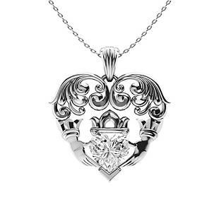 0.52 ctw Diamond Necklace 14K White Gold