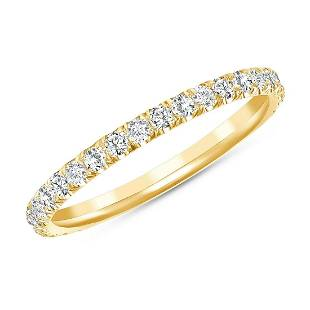 Natural 0.52 CTW Melody Diamond Ring 14KT Yellow Gold