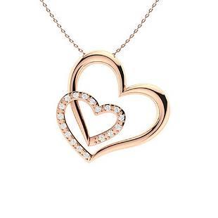 0.2 ctw Diamond Necklace 18K Rose Gold