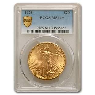 1928 $20 Saint-Gaudens Gold Double Eagle MS-64+ PCGS