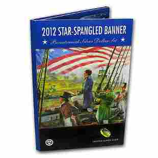 2012 $1 Silver Star Spangled Banner Bicentennial Proof