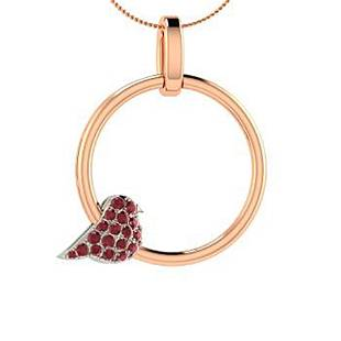 0.29 ctw Ruby Necklace 18K Rose Gold