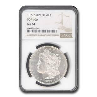 1879-S Morgan Dollar Rev of 78 MS-64 NGC (Top-100)