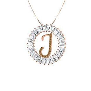 4.61 ctw White & Brown Diamond Necklace 14K Rose Gold