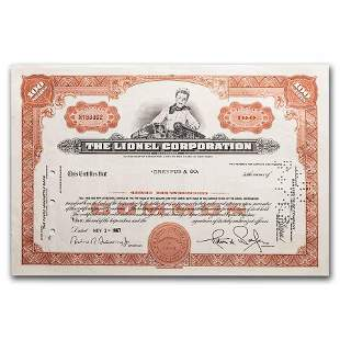 The Lionel Corporation Stock Certificates