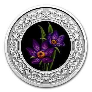 2020 RCM 1/4 oz Ag $3 Floral Emblems - Manitoba:
