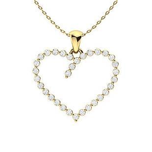 0.34 ctw Diamond Necklace 14K Yellow Gold